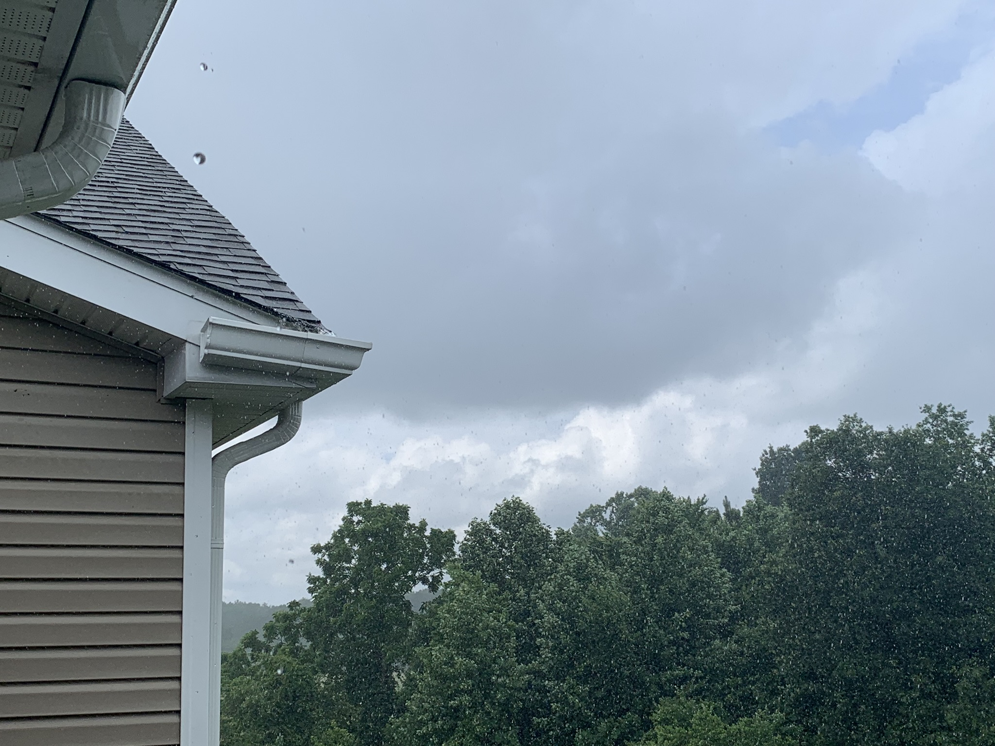 Sun and rain at the same time. Delmar, Maryland.