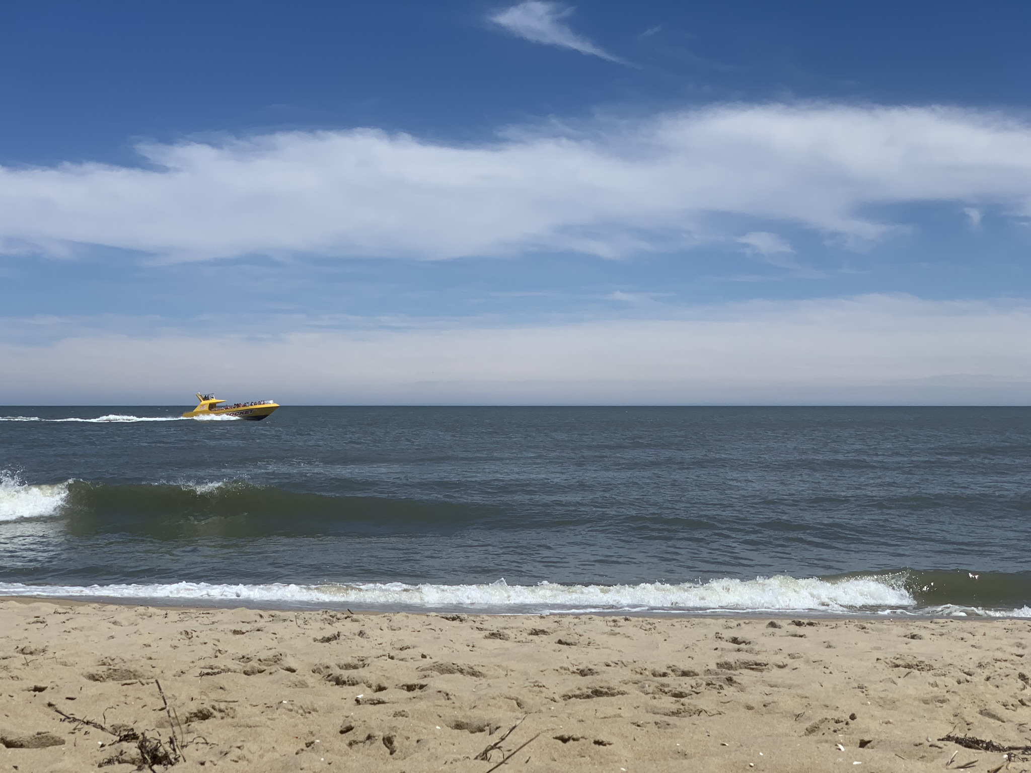 In the dog days of summer in Ocean City, Maryland.