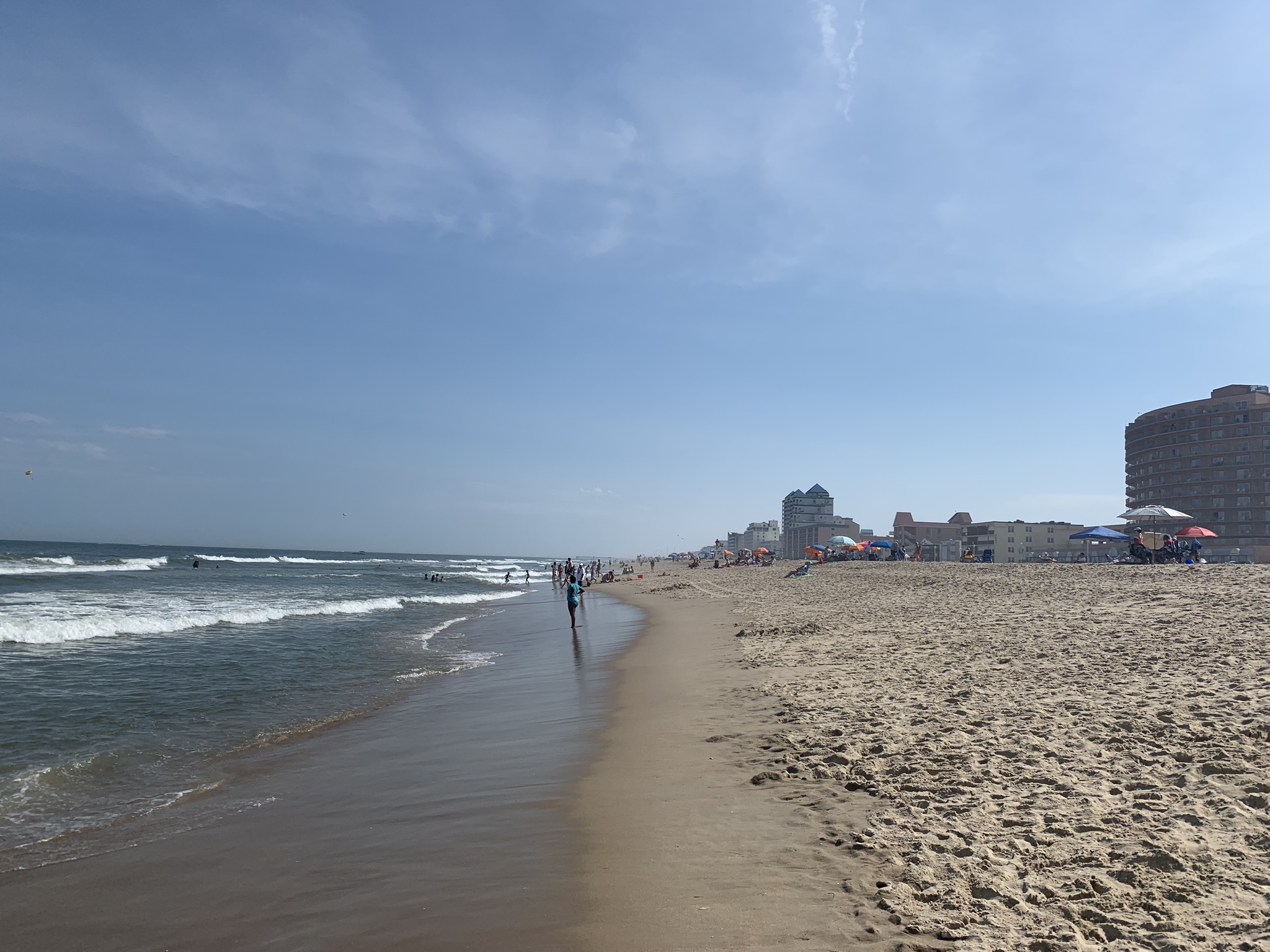 No storms to the south. Ocean City, Maryland.