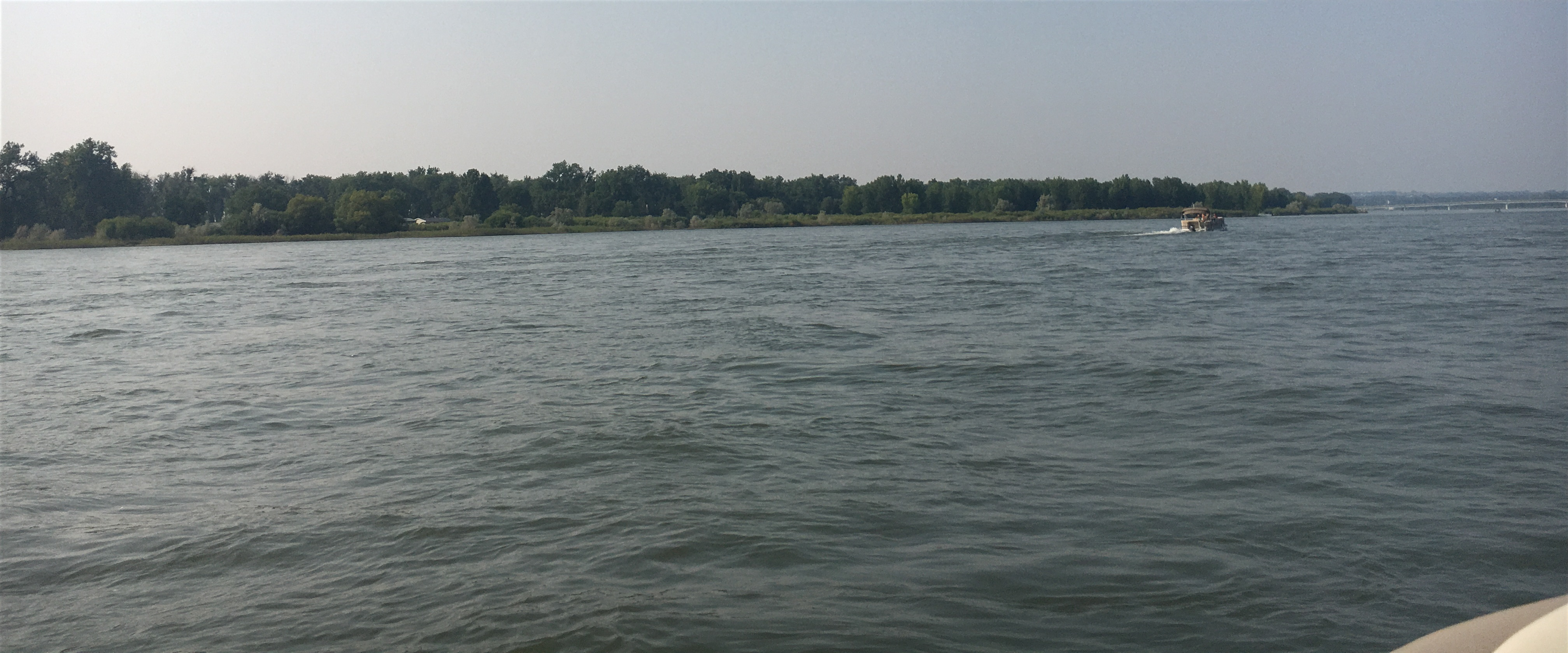 Out on the Missouri River in Bismarck, North Dakota.