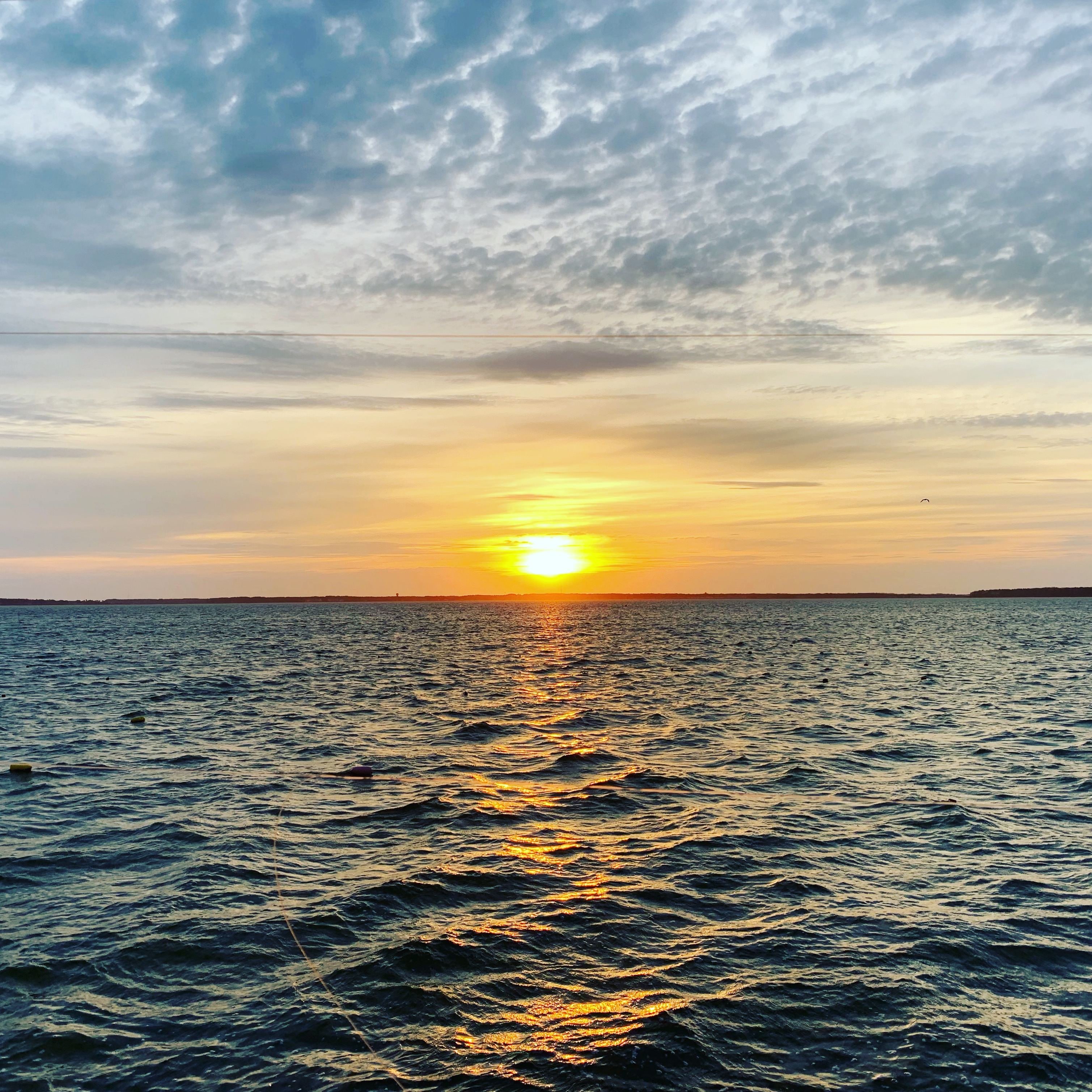 Isle of Wight Bay sunset in Ocean City, Maryland.