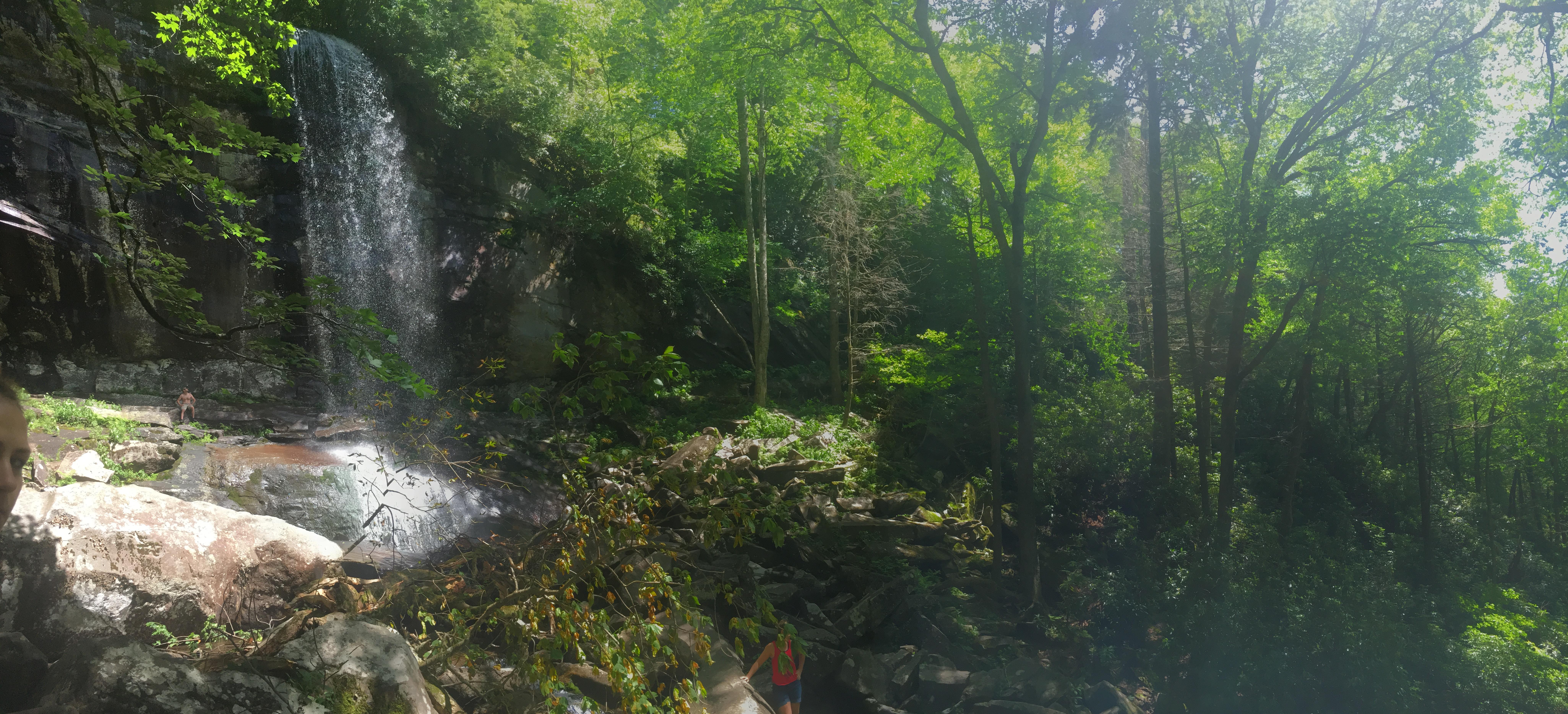 Ramsey Cascades falls over 100 feet in the Smoky Mountains.