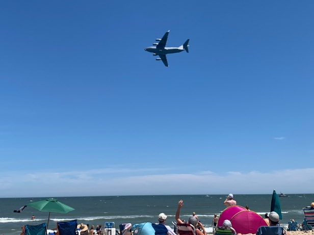 Ocean City, Maryland Air Show 2019. The weather can decide your plans.